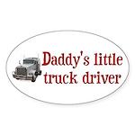 Little Truck Driver Sticker (Oval)