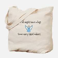 Angels with label makers Tote Bag