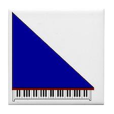 Piano #3 - Blue - Tile Coaster