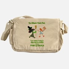 But they are nice shoes... Messenger Bag