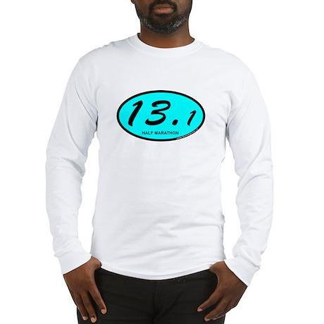Half Marathon 13.1 aqua Long Sleeve T-Shirt