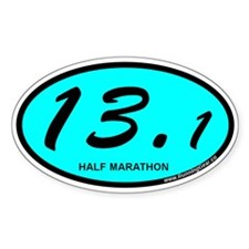 Half Marathon 13.1 aqua Decal
