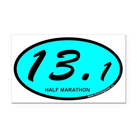 Half Marathon 13.1 aqua Rectangle Car Magnet