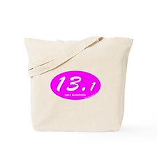 Pink Oval 13.1 Half Marathon p.png Tote Bag