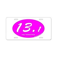 Pink Oval 13.1 Half Marathon p.png Aluminum Licens