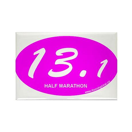 Pink Oval 13.1 Half Marathon p.png Rectangle Magne