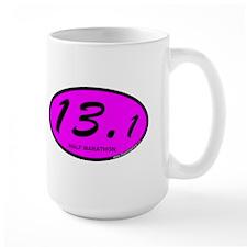 Pink Oval 13.1 Half Marathon.png Mug