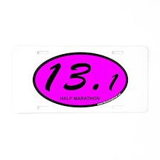Pink Oval 13.1 Half Marathon.png Aluminum License