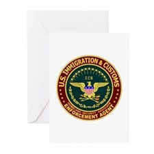 IMMIGRATION & CUSTOMS - ICE:  Greeting Cards (Pack