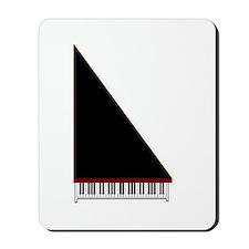 Piano #3 - Black - Mousepad