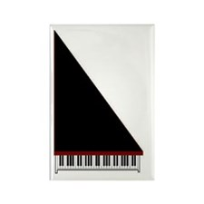 Piano #3 - Black - Rectangle Magnet