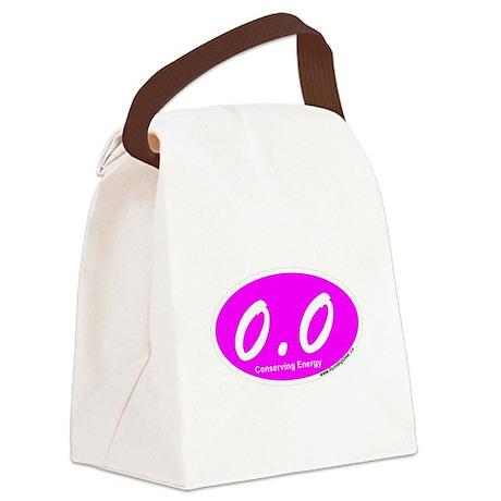 Pink Zero Point Zero Canvas Lunch Bag