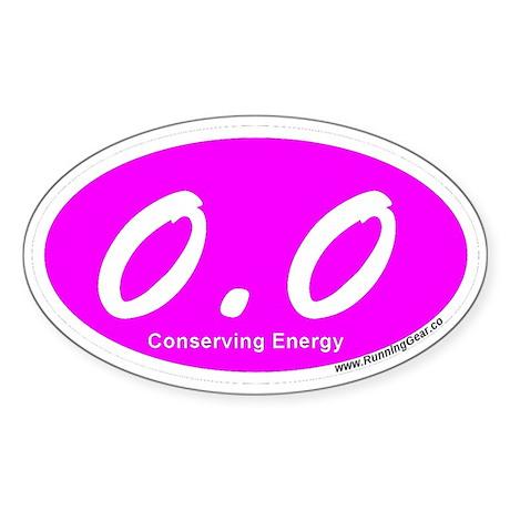 Pink Zero Point Zero Sticker (Oval)