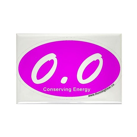 Pink Zero Point Zero Rectangle Magnet (10 pack)