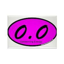 Pink Zero Point Zero Rectangle Magnet