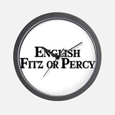 English, Fitz or Percy Wall Clock