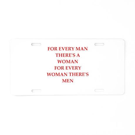 woman Aluminum License Plate