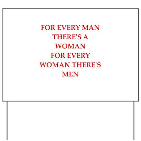 woman Yard Sign