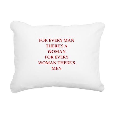 woman Rectangular Canvas Pillow