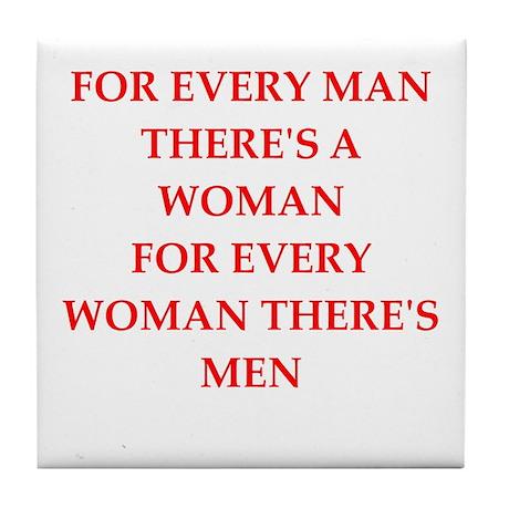 woman Tile Coaster