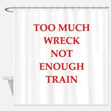 train wreck Shower Curtain
