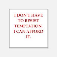"""temptation Square Sticker 3"""" x 3"""""""