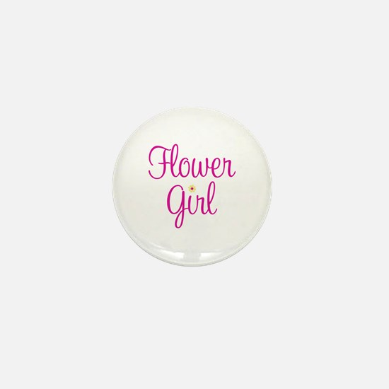 Flower Girl Mini Button
