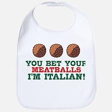Funny Italian Meatballs Bib