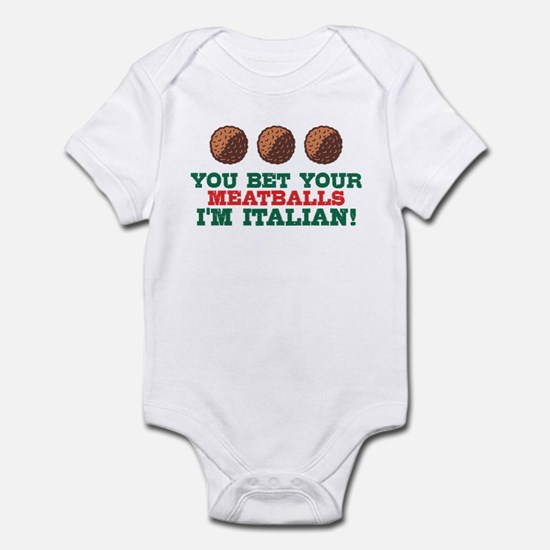 Funny Italian Meatballs Infant Bodysuit