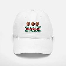 Funny Italian Meatballs Baseball Baseball Cap