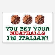Funny Italian Meatballs Decal