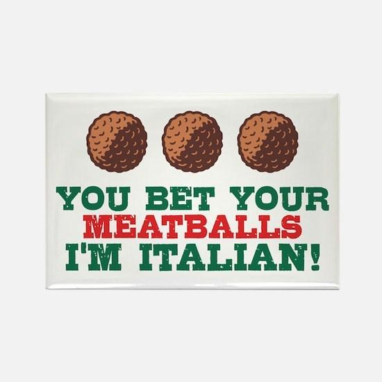 Funny Italian Meatballs Rectangle Magnet