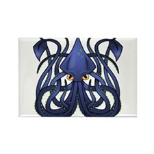 Squid Rectangle Magnet