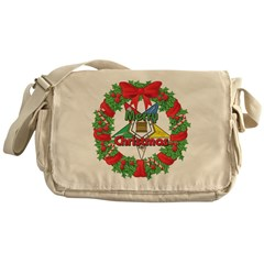 OES Wreath Messenger Bag