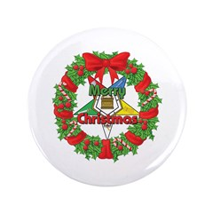 """OES Wreath 3.5"""" Button (100 pack)"""