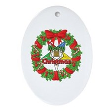 OES Wreath Ornament (Oval)