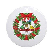 OES Wreath Ornament (Round)