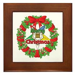 OES Wreath Framed Tile