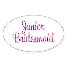Junior Bridesmaid Oval Decal