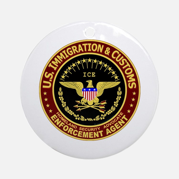 IMMIGRATION and CUSTOMS ICE: Ornament (Round)