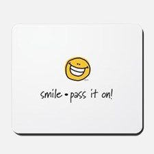 smile pass it on Mousepad