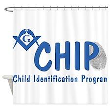 Masonic CHIP Shower Curtain