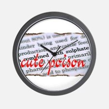 CUte POiSOn Wall Clock