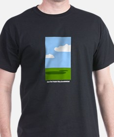 """""""How The Project Was Documented"""" Black T-Shirt"""