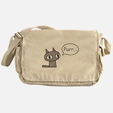 Purring Cat Messenger Bag