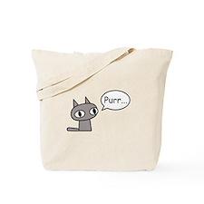 Purring Cat Tote Bag