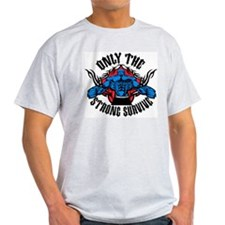Mixed Martial Arts Ash Grey T-Shirt