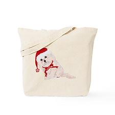 Adorable Christmas Cockapoo Tote Bag