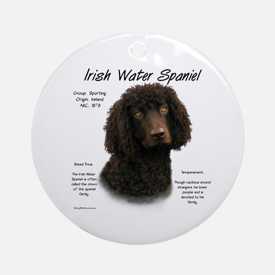 Irish Water Spaniel Round Ornament