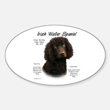 Irish Water Spaniel Oval Decal